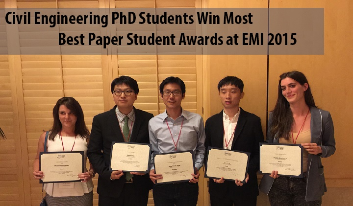 civil engineering phd students win most best paper student awards at emi 2015 rotating